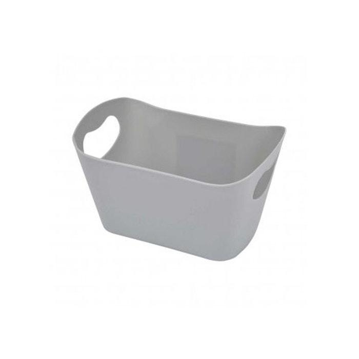 pani re de rangement en plastique gris clair home bain la redoute. Black Bedroom Furniture Sets. Home Design Ideas