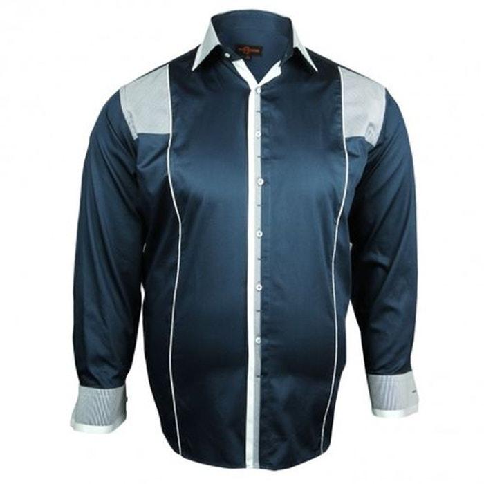 chemise grande taille barocco bleu doublissimo la redoute. Black Bedroom Furniture Sets. Home Design Ideas