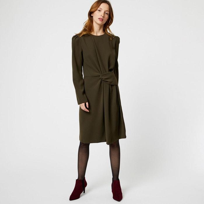 1561d952bb6b3 Robe manches longues à effet de neoud vert Monoprix   La Redoute