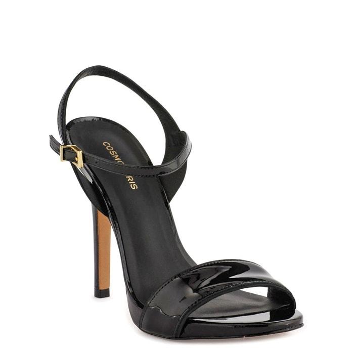 Sandales cuir jadia noir verni Cosmoparis