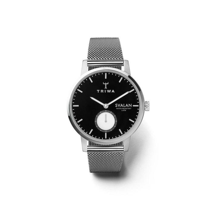 Montre analogique bracelet acier milanais svalan noir Triwa | La Redoute Vente 100% Authentique zWf4SEfXAh