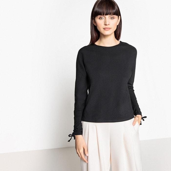 T-shirt, scollo rotondo maniche lunghe con coulisse  La Redoute Collections image 0