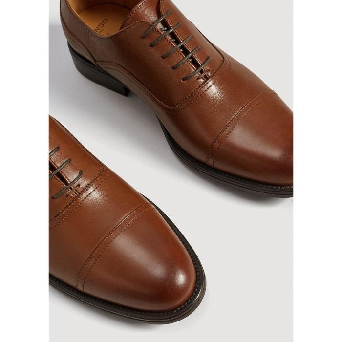 Chaussures derby cuir marron moyen Mango Man