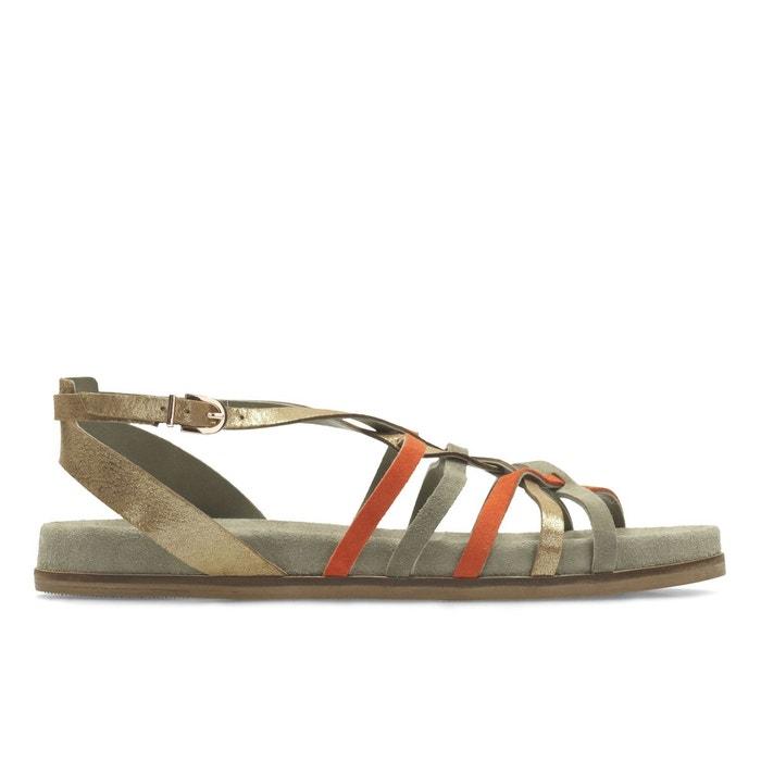 Sandales cuir agean art multicolore Clarks