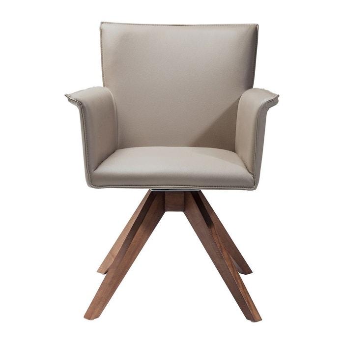 chaise avec accoudoirs pivotante foxy kare design gris. Black Bedroom Furniture Sets. Home Design Ideas