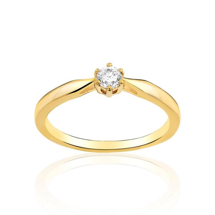 Solitaire en or 750/1000 jaune et diamant blanc blanc Cleor | La Redoute Choix De La Vente ma43DVRI5
