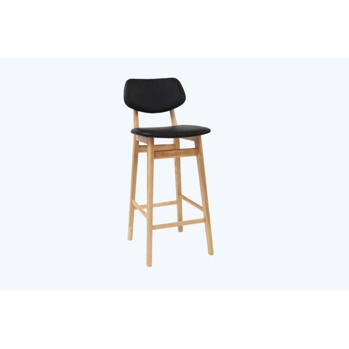 tabouret chaise de bar design noire et bois naturel 65 cm nordeco noir miliboo la redoute. Black Bedroom Furniture Sets. Home Design Ideas