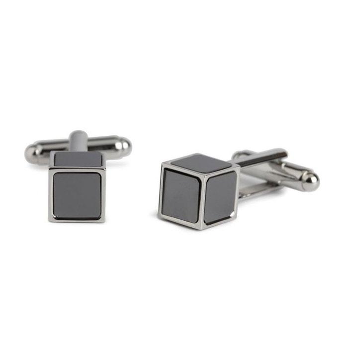 Bouton de manchette simon carter, cube, onyx gris Simon Carter | La Redoute