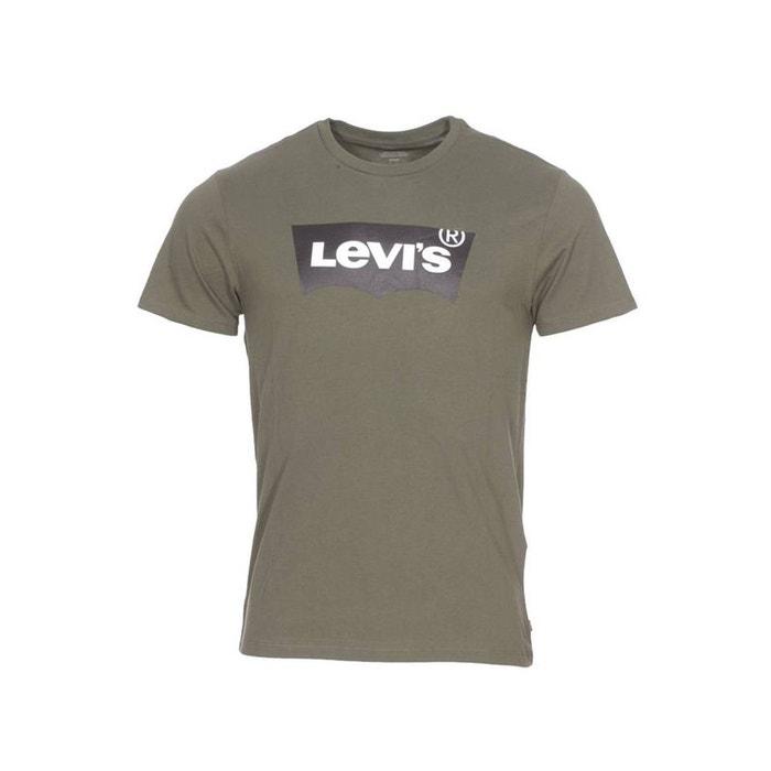 133aff81be94e Tee-shirt col rond Housemark Graphic en coton kaki floqué LEVI'S image 0