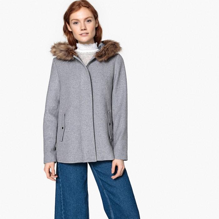 online store cd0b9 d3247 Cappotto corto con cappuccio in misto lana