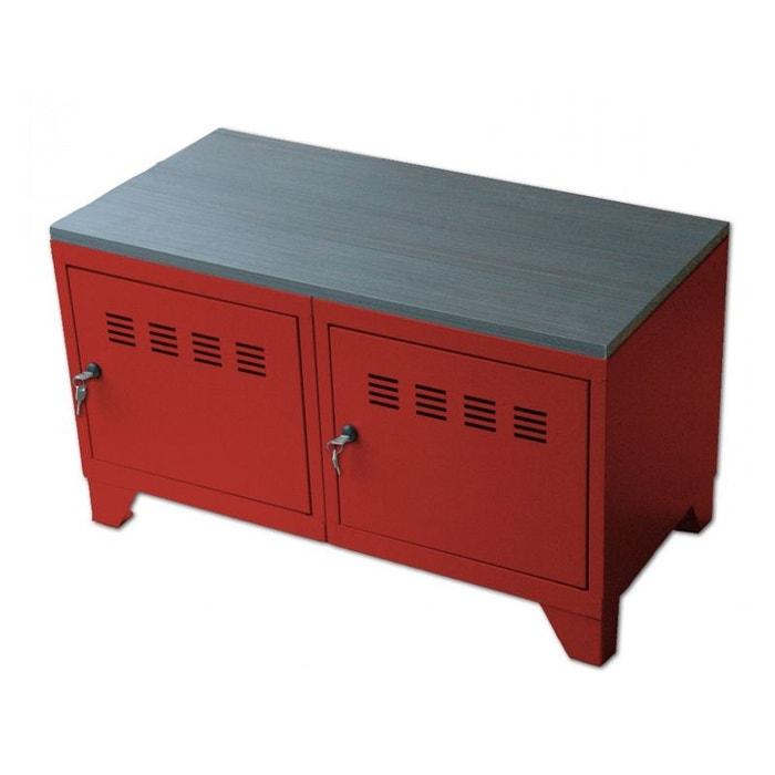 Meuble bas industriel m tal pierre henry la redoute for Solde la redoute meuble