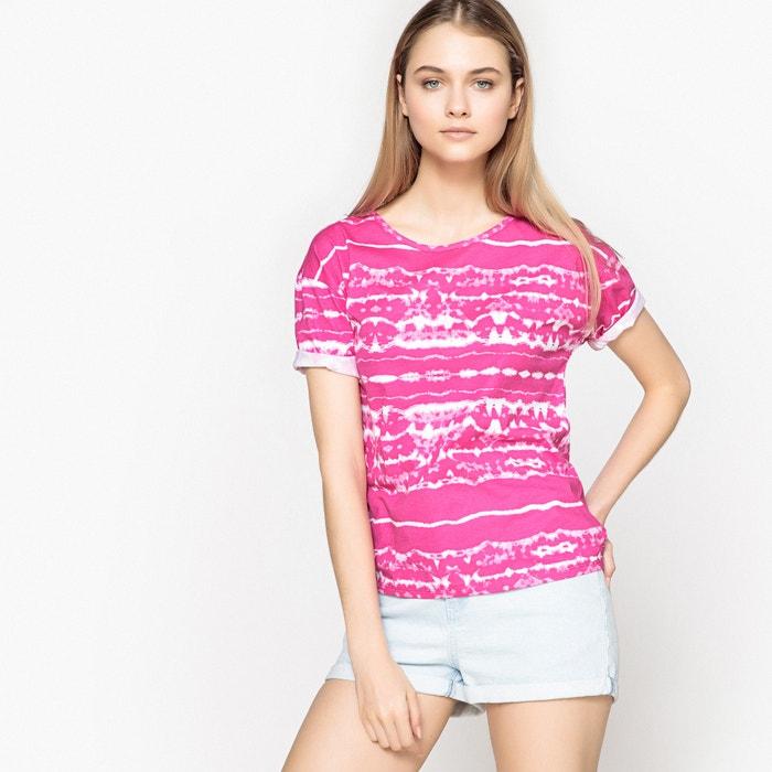 dye Redoute corta a Camiseta cuello La de Collections amp; tie rayas manga redondo HAxUnR0wq