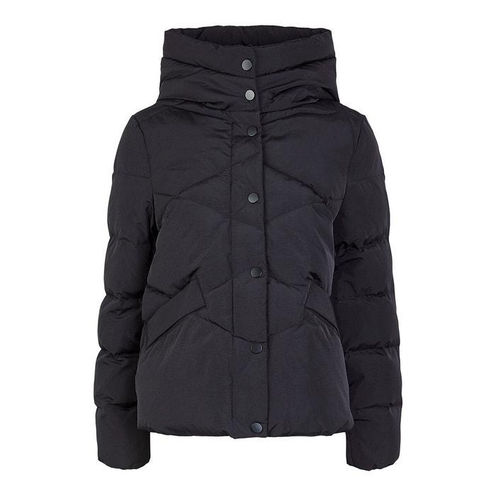 Куртка стеганая с воротником-стойкой, на пуговицах и молнии