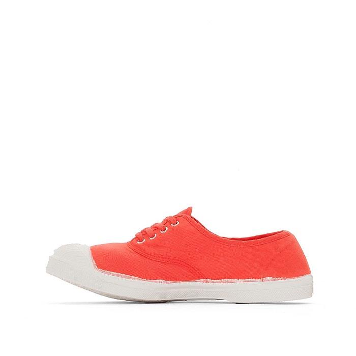 Baskets basique lacets rouge Bensimon