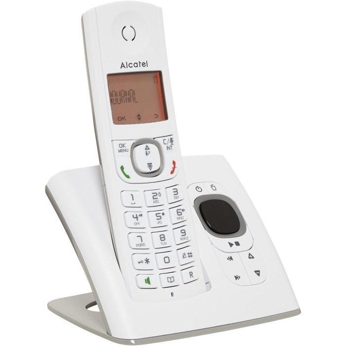 t l phone sans fil f530 voice solo grey alcatel la redoute. Black Bedroom Furniture Sets. Home Design Ideas