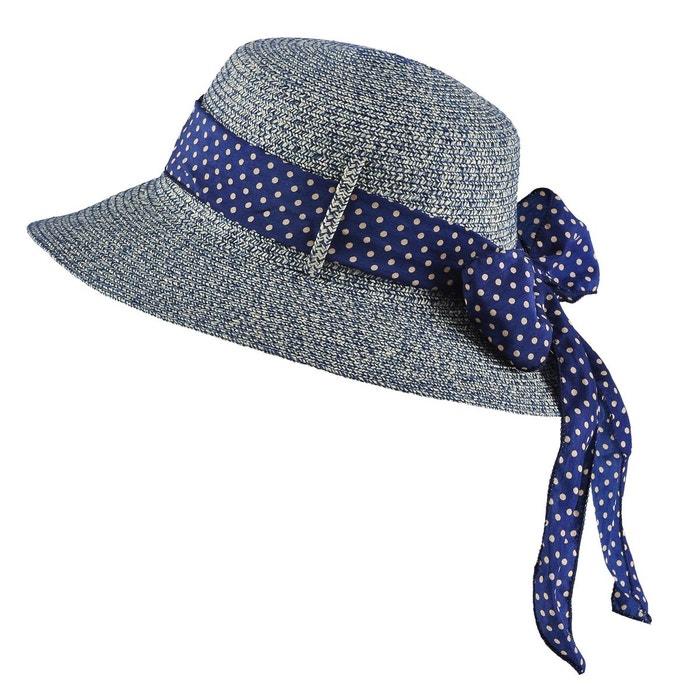 0f8a32da4e4a7 Chapeau femme mezcla chiné marine bleu Baisers Sales | La Redoute