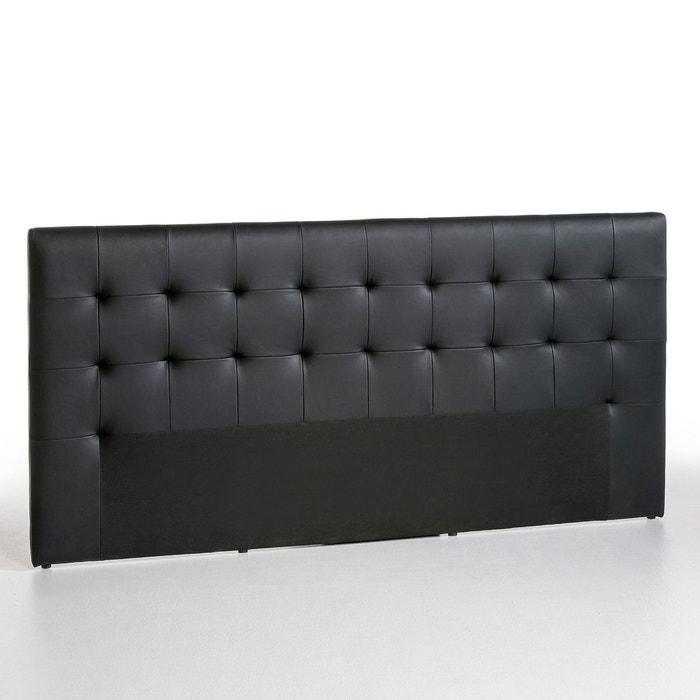 t te de lit vianney rev tement cuir noir am pm en solde la redoute. Black Bedroom Furniture Sets. Home Design Ideas
