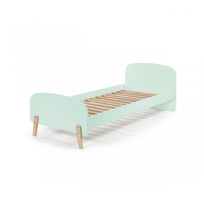 lit enfant 90x200 vert menthe avec sommier vert terre de nuit la redoute. Black Bedroom Furniture Sets. Home Design Ideas