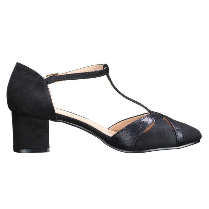 Sandales à talons à bout fermé noir Leader Mode ...