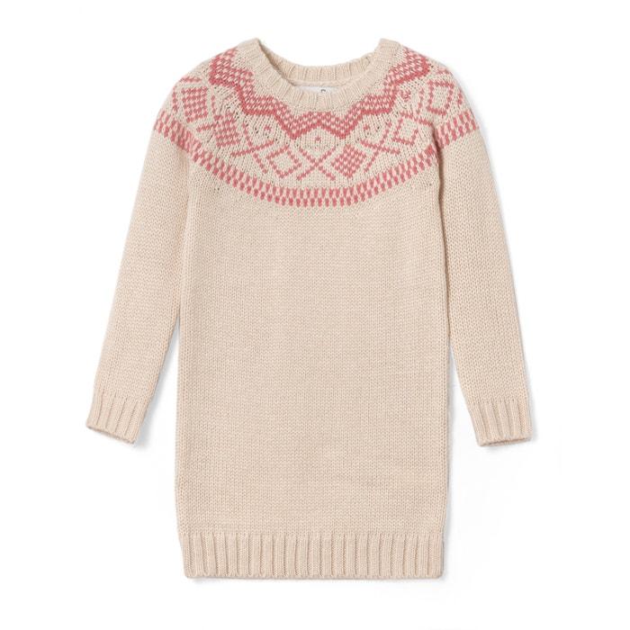 Imagen de Vestido jersey de jacquard 3-12 años La Redoute Collections
