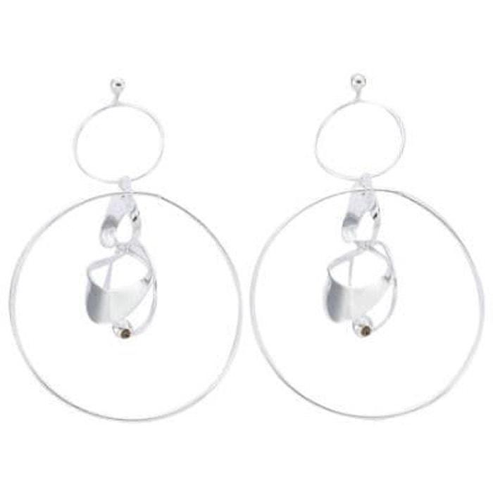 Boucles d'oreilles création anneaux & spirale argent 925 couleur unique So Chic Bijoux | La Redoute Meilleur Endroit Prix Pas Cher 6TRvadiLH