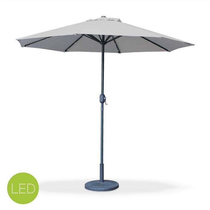 parasol led 2 7m helios gris clair m t central lumi re int gr e et manivelle gris clair alice. Black Bedroom Furniture Sets. Home Design Ideas