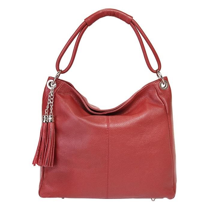 Sac shopping pour dames en cuir. luna rouge Eastline   La Redoute Meilleur Endroit En Ligne Coût Prix Pas Cher 36CkL