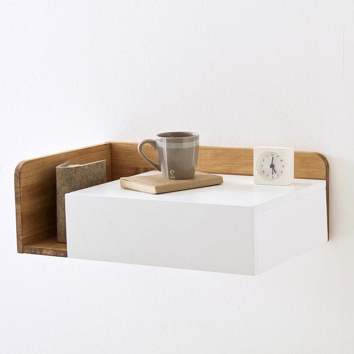Chevet suspendre c t droit jimi blanc bois la redoute interieurs la - Table de chevet a suspendre ...