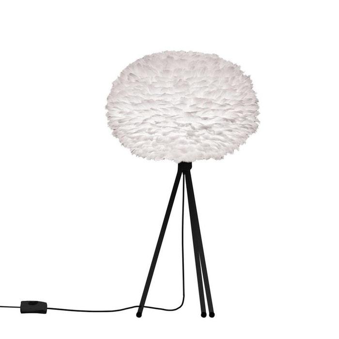 Eos lampe poser plume blanc tr pied noir 35cm blanc vita la redoute - Grosse ampoule ronde ...