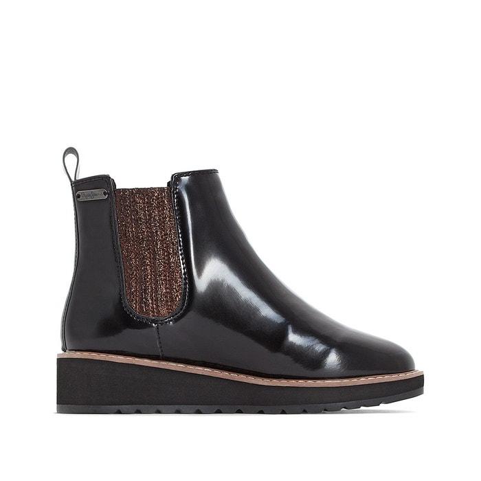 Boots ramsy chelsea noir Pepe Jeans Dédouanement Prix Pas Cher JAdftBcT