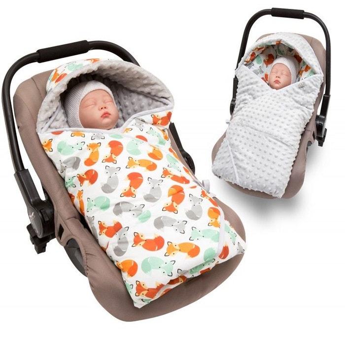 Couverture enveloppante réversible et multi-usage pour siège auto foxy  beige Sevira Kids   La Redoute 803f2430567