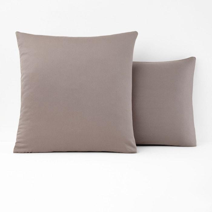 taie d 39 oreiller satin lav uni var se havane la redoute interieurs la redoute. Black Bedroom Furniture Sets. Home Design Ideas