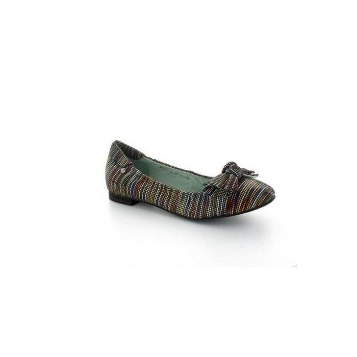 Couleur Pourpre Ballerine  Noire 711 Noire - Chaussures Ballerines Femme