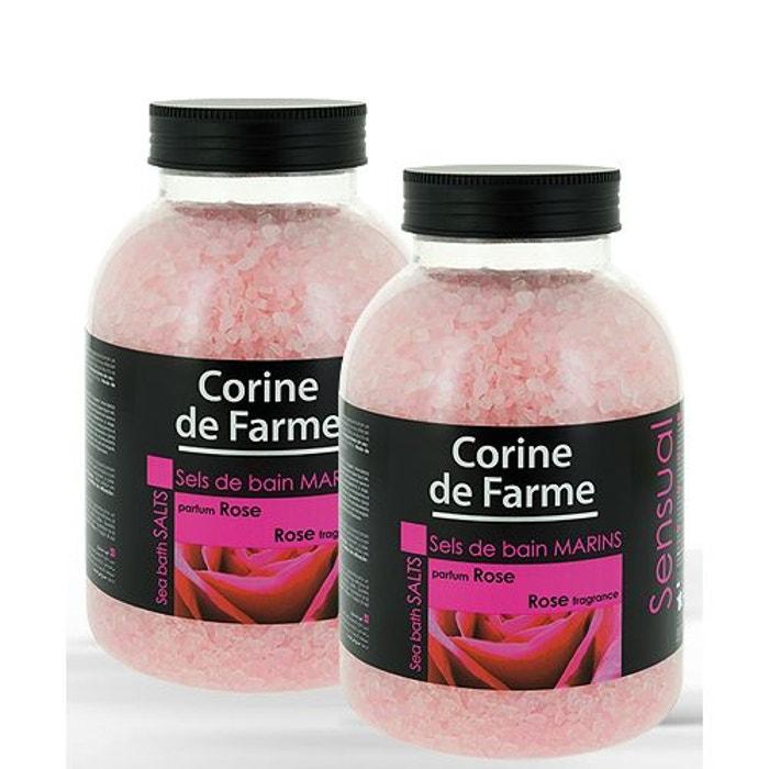 lot de 2 sels de bain marins sensual rose couleur unique corine de farme la redoute. Black Bedroom Furniture Sets. Home Design Ideas