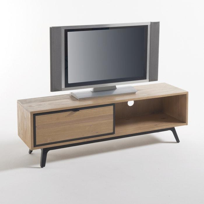 Meuble tv hifi daffo la redoute interieurs bois naturel la redoute for Solde la redoute meuble