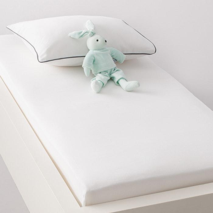 Image Drap-housse uni bébé toile pur coton (lot de 2), Xelie R baby