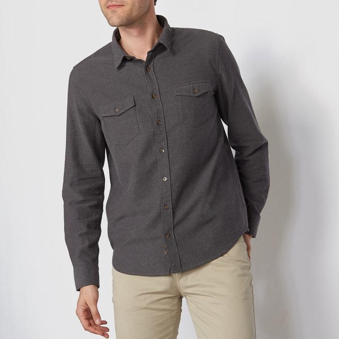 Image Camicia maniche lunghe taglio regular flanella La Redoute Collections