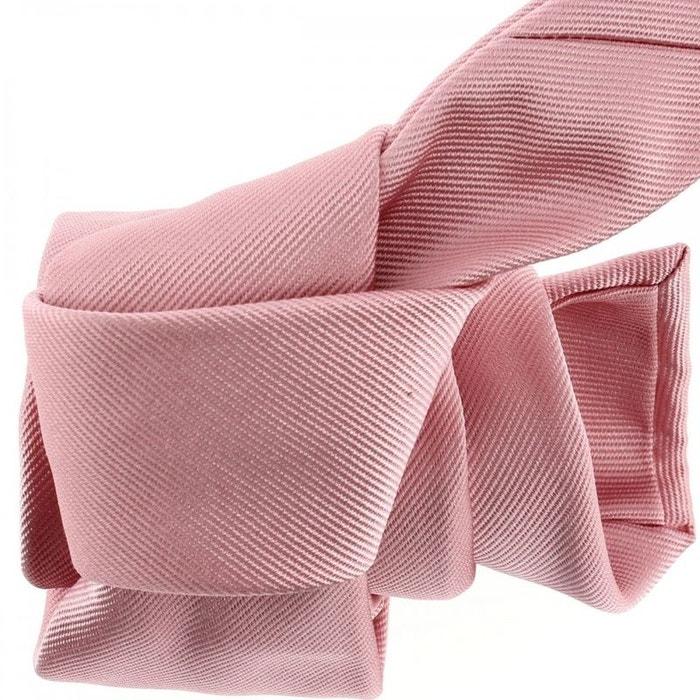 Cravate luxe faite à la main, rose crocus rose Tony Et Paul   La Redoute