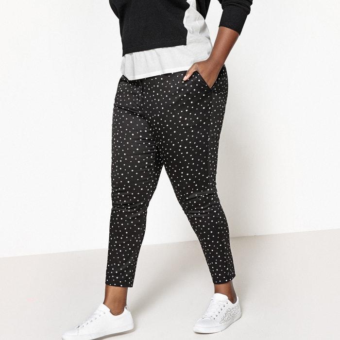 "Polka Dot Ankle Grazer Trousers, Length 26.5""  CASTALUNA PLUS SIZE image 0"