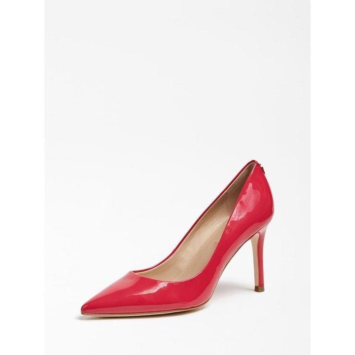 Escarpins pointus Femme en textile rouge   Jonak