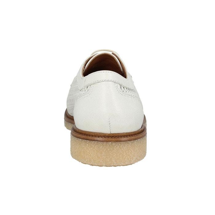 Chaussures à lacets femme schmoove darwin classic cuir femme dove dove  Schmoove ...