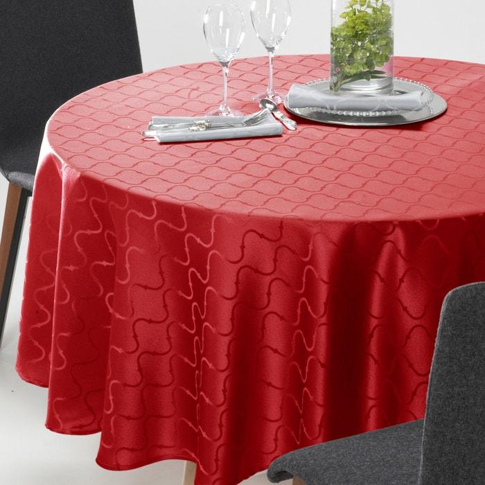 afbeelding Rond tafellaken Salomé, damast jacquard met motief. La Redoute Interieurs