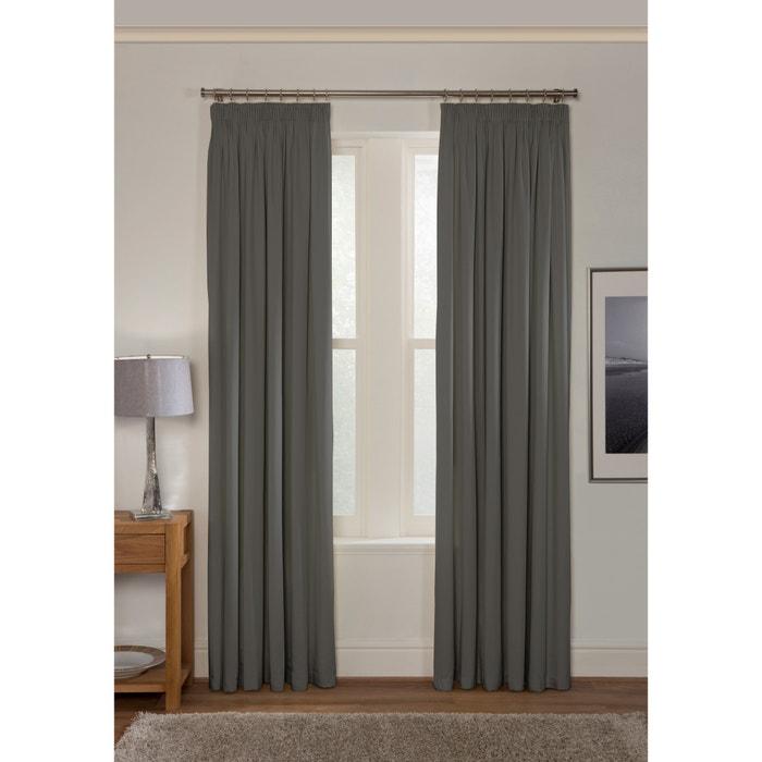 Blackout Pencil Pleat Curtains Grey