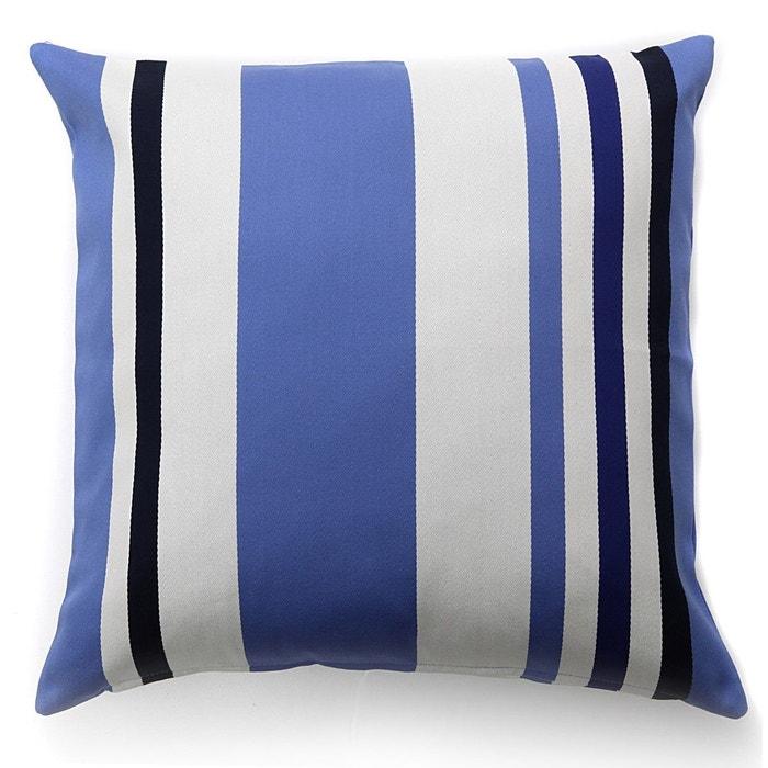 housse de coussin pampelune amiral bleu jean vier la redoute. Black Bedroom Furniture Sets. Home Design Ideas