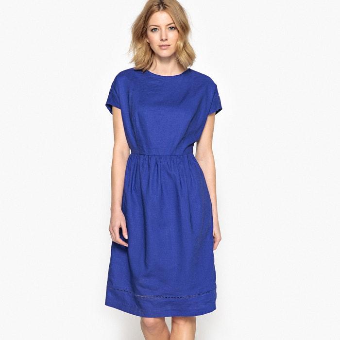 Платье расклешенное из ткани с преобладанием льна  ANNE WEYBURN image 0