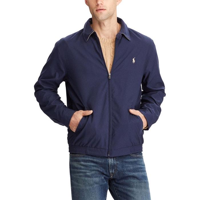 Blouson zippé harrington windbreaker bleu