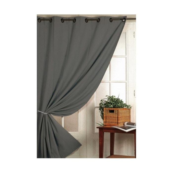 Rideau 100% occultant ignifugé m1 non feu gris gris Home Maison | La ...