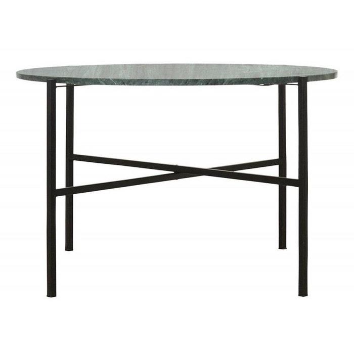 Table basse ronde métal marbre house doctor the green d 70 cm vert ...