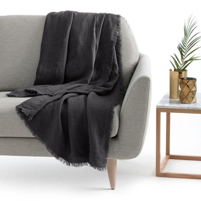 plaid lin lav linange la redoute interieurs la redoute. Black Bedroom Furniture Sets. Home Design Ideas