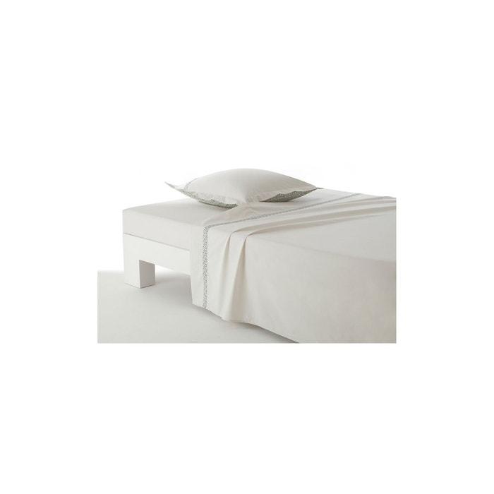 drap plat tropical blanc anne de solene la redoute. Black Bedroom Furniture Sets. Home Design Ideas